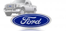 Emblema 'Ford' da Grade do Cargo 00/... Aplicavel F-250 F-350 F-4000 07/... Resinado Grande (23x9cm)