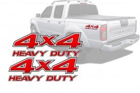 Emblema '4x4 Heavy Duty' da Frontier 03/07 (Par)