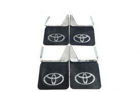 Badana da Bandeirantes C/ Logo Toyota Material Pesado 4 Peças Inox