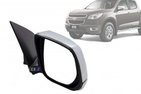 Espelho Retrovizor S10 Trailblazer 12/... Elétrico Cromado C/ Pisca Ld