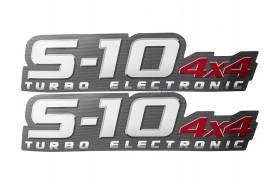 Emblema 'S10 4x4 Turbo Eletronic' 2009 (2ª Linha)