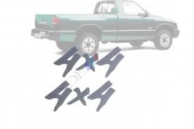 Emblema '4x4' da S10 e Blazer 97/00 Prata