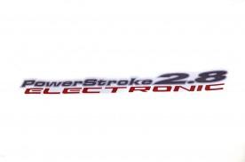 Emblema '2.8 Power Stroke Electronic' da Ranger 05/09  Cinza