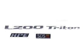 KIT EMBLEMA L200 TRITON HPE DSD 2012 / 2016 3 PEÇAS