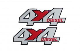 Emblema '4x4 Diesel' do Troller 01/08 (X Vermelho)