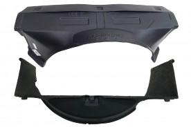 Kit Defletor Radiador S10 Blazer 96/04 Pra Motor 4.3 V6 Superior (Fibra) 2 Peças