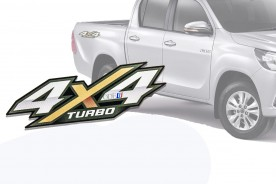 Emblema '4x4 Turbo' da Hilux 16/... (Par)