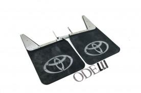 Badana da Bandeirantes C/ Logo Toyota Material Pesado 2 Peças (Dianteiro) Inox