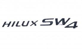 Emblema 'Hilux SW4' Resinado Aplicação Overbumper  (Preto)