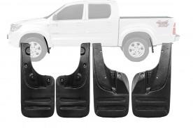 Para-barro (Lameiro) da Hilux SRV 05/15 S/ Alargador 25cm Kit (4 Peças)