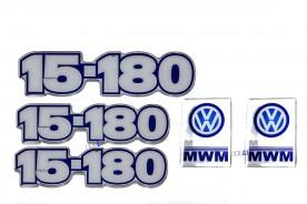 KIT EMBLEMA VW 15-180 RESINADO 5 PEÇAS