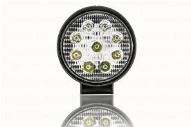 FAROL AUXILIAR LED REDONDO UNIVERSAL 6000K 10V/30V 27W