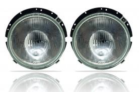 KIT FAROL DA VW 6.80 6.90 7.90 83/86 REDONDO (IAM) PADRÃO ORIGINAL 2 PEÇAS