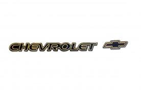 Emblema 'Chevrolet' da Blazer S10 01... Ouro com Logo