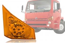 LANTERNA DIANTEIRA AGRALE 9200/14000/10000/8700 LED AMBAR 24V LADO DIREITO