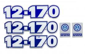KIT EMBLEMA VW 12-170 RESINADO COM 5 PEÇAS 1997 / 2000