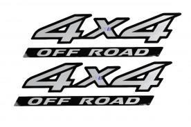Emblema '4x4 Off Road' da Frontier 08/16 Aço Escovado Par (2 Peças)